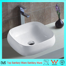 Bathroom Top Mounted Single Faucet Hole Ceramic Thin Edge Basin