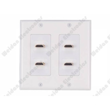 4 Ports Decorastyle HDMI Wall Plate