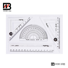 School Supply for Plastic Ruler Office Stationery Set