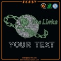 The Links Your Text wholesale iron-on rhinestone transfer