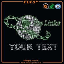 The Links Your Text venta al por mayor de hierro-en transferencia de strass