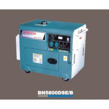 Молчком воздух-Охлаженный Тепловозный генератор (BN5800DSE/Б)