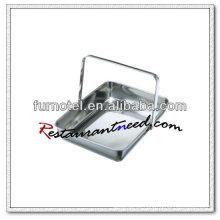 Plato de toalla portátil de acero inoxidable S325