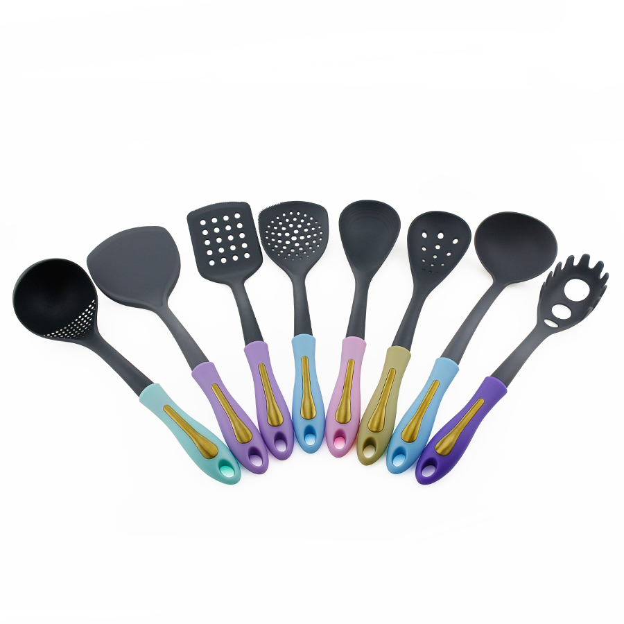 8pcs Nylon Kitchen utensil set with PP handle