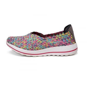 Summer Multi Colors Women Woven Flat Slip-ons