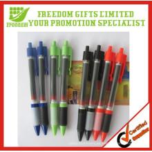 El bolígrafo impreso logotipo promocional saca la pluma de la bandera