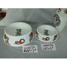 Tazones de cerámica del perro (CY-P5781)