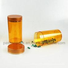 Bernstein Injektion Pet Medizin Flasche für Fisch Öl Verpackung (PPC-PETM-017)