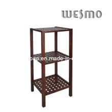 Estante de baño de madera de goma (WRW0503B)
