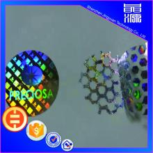 3d Bahan PET Label Hologram Honeycomb Sticker Custom