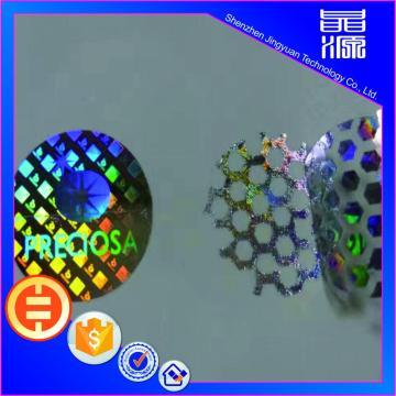 3d PET Material Honeycomb Hologram Sticker Custom Label