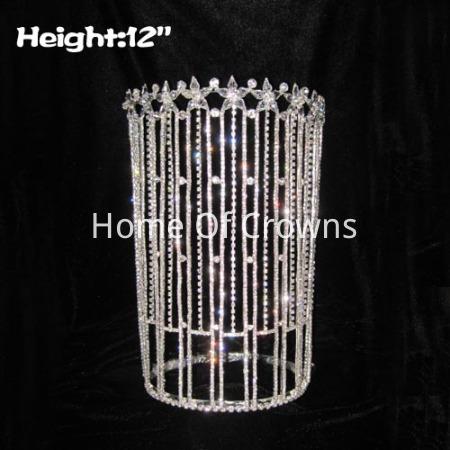 Coroas claras altas grandes da rainha do concurso de 12 polegadas