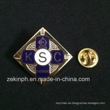 Insignia de Cloisonne suave plateada oro de alta calidad