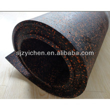 Yichen rubber roll gym flooring / rubber floor / interlock floor