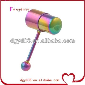 Vibrierender Zungenring-Körperschmucksachen des Regenbogens des Regenbogens