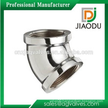 Custom Made chrome plated High quality Bathroom flanged copper female fittings connector 2(two)way elbow pipe fittings 45 degree