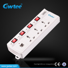 Conector múltiple universal enchufe eléctrico USB adpter