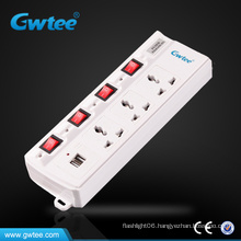 multiple switched socket with usb charger