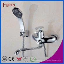 Mezclador de la ducha de baño de la lluvia del canalón largo montado en la pared de Fyeer