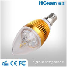 3W LED Pointed Crystal Candle Bulb Light