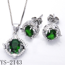 Fashionable Micro Pave CZ 925 Sterling Silver Jewelry Set (YS-2143)