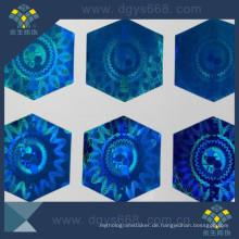 Einfacher schädigender Hologramm-Anti-Fälschungs-holographischer Aufkleber-Aufkleber