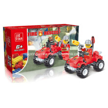 Firefighters Series Designer Fire Four-Wheel Drive Vehicle Block Toys