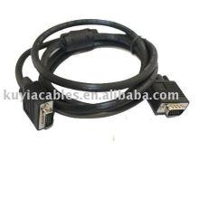 15Pin SVGA VGA Cable de extensión M / M macho a macho para PC proyector