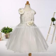 2017 neue Ankunft Baby Mädchen Hochzeitskleid mit Blumenkorea Stil floral Kinder Kleider Designs für westliche Party tragen