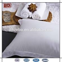 100% tela de satén de algodón 5 cm de superposición de estilo caliente vendiendo blanco almohada