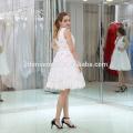 Vestido de noche musulmán corto blanco puro de las señoras para la fiesta de boda