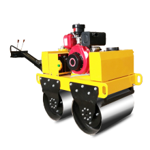 Mini diesel engine double steel road roller compactor