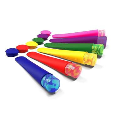Ensemble de fabrication de glace et de pop multicolores en silicone 6PCS