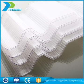 double wall durable polycarbonate material wavy roof
