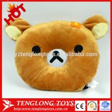 Altavoz de oso de felpa con caja de voz de felpa caja de sonidos de juguete almohada almohada de peluche
