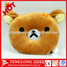 Plush bear speaker with voice box plush sound box toy plush bear pillow