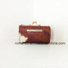 Wholesale Women Fur Leather Wallet Lady Genuine Purse (NMDK-041101)