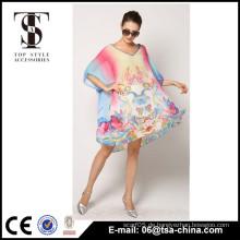 Neue Damen übergroße V Ansatz Heiße Verkaufs-Soem-reizvolle Abdeckung oben Strand-Kleid Beachwear