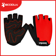 Half-Finger Gym Gloves with Lycra on Back for Weight-Lifting