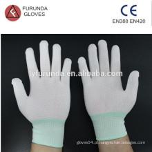 Luvas de trabalho de nylon de 13 gauge com pontos de PVC na palma