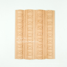 Decoración de muebles marco diseño flor tallada madera moldura