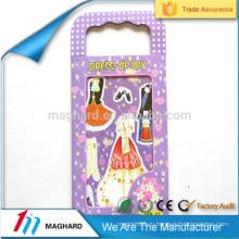 Оптовые магнитные меняя одевает бумажную куклу, магнитную одежду