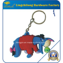 PVC Donkey Design Animal Keychain