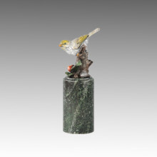 Animal Bird Statue Birdle Happy Bronze Sculpture Tpal-306