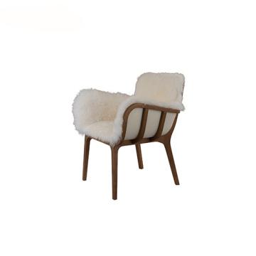 Легкое обеденное кресло Kago Fur