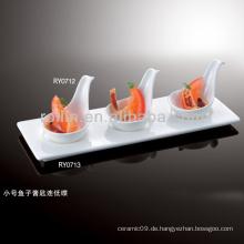 Hotel und Restaurant verwendet Display Platte, Porzellan Display Platte, 3-Fach Display