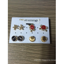 Lovely Set Earrings with Star, Crab, Shells, and Ship′s Anchor