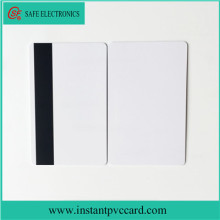 Blank double side printable magnetic stripe card