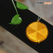 Reflective Safety Round Rhape Night Vision Keychain Hanger