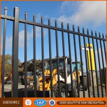 Schwarzes Pulver beschichtete heiße DIP galvanisierte dauerhafte Metall 3 Rail Fence